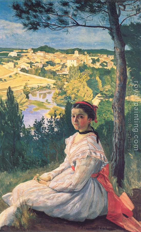 Frederic Bazille : View of the Village