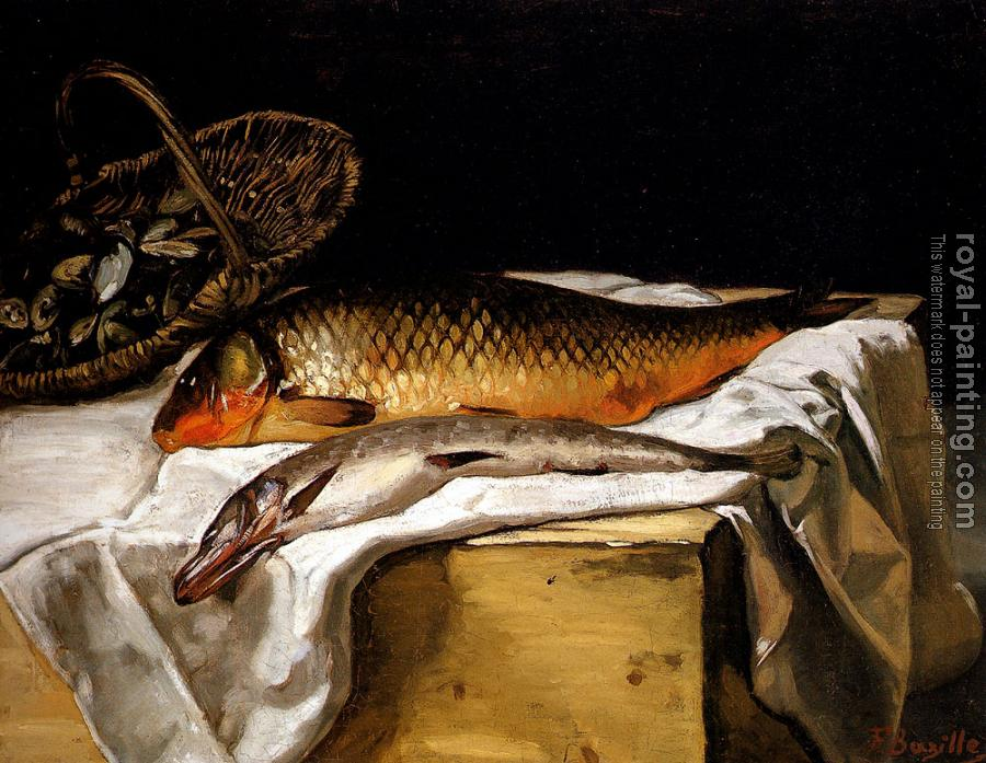 Frederic Bazille : Still Life With Fish