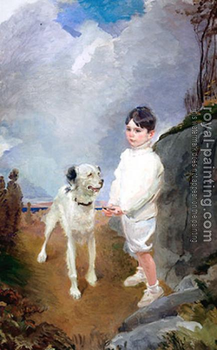 Cecilia Beaux : Lane Lovell and His Dog