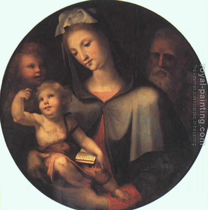 Domenico Beccafumi : Graphic The Holy Family with Young Saint John