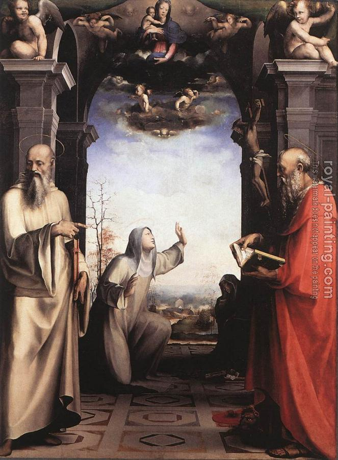 Domenico Beccafumi : Stigmatization of St Catherine of Siena