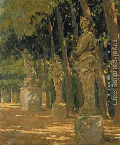 James Carroll Beckwith : Carrefour at the End of the Tapis Vert, Versailles