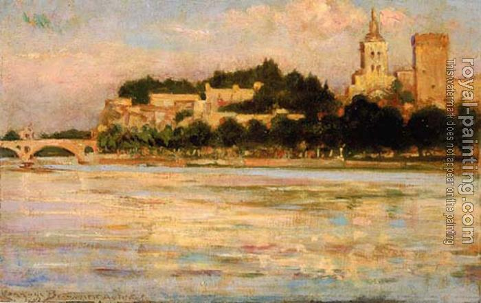 James Carroll Beckwith : The Palace of the Popes and Pont d'Avignon
