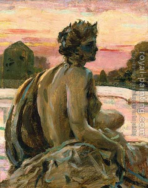 James Carroll Beckwith : One of the Figures at the Parterre d'Eau