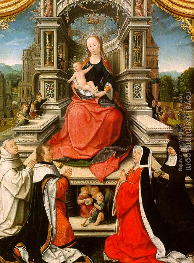 Jean Bellegambe : The Retable of Le Cellier (triptych), central panel featuring The Virgin and Child