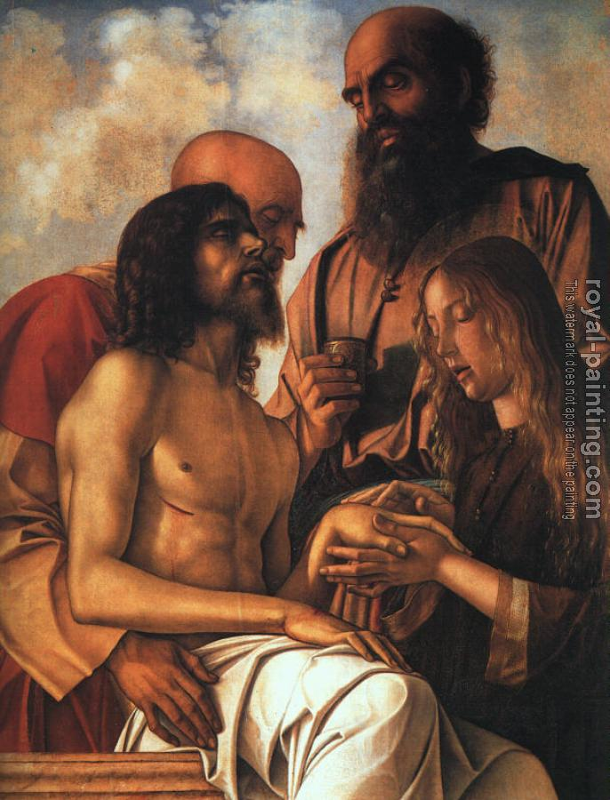 Giovanni Bellini : Pieta, (original cymatium of the Pesaro Altarpiece)