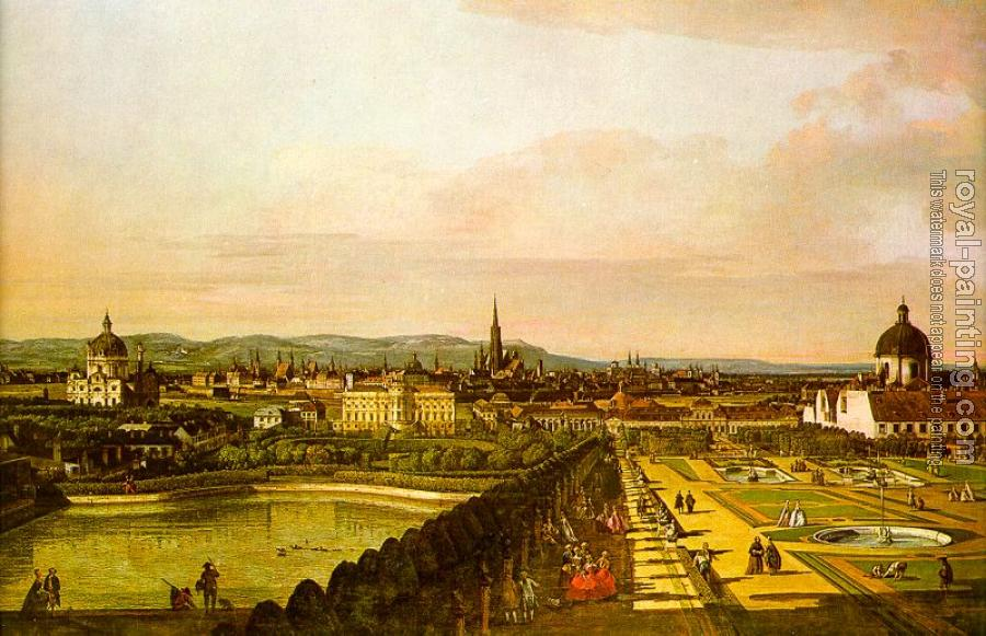 Bernardo Bellotto : View of Vienna from the Belvedere