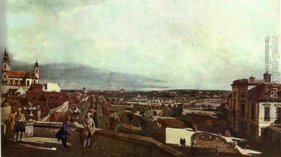 Bernardo Bellotto : Kaunitz Palace and Park in Vienne
