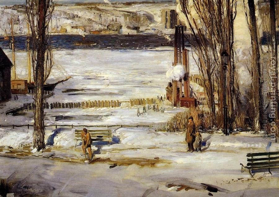George Bellows : A Morning Snow, Hudson River