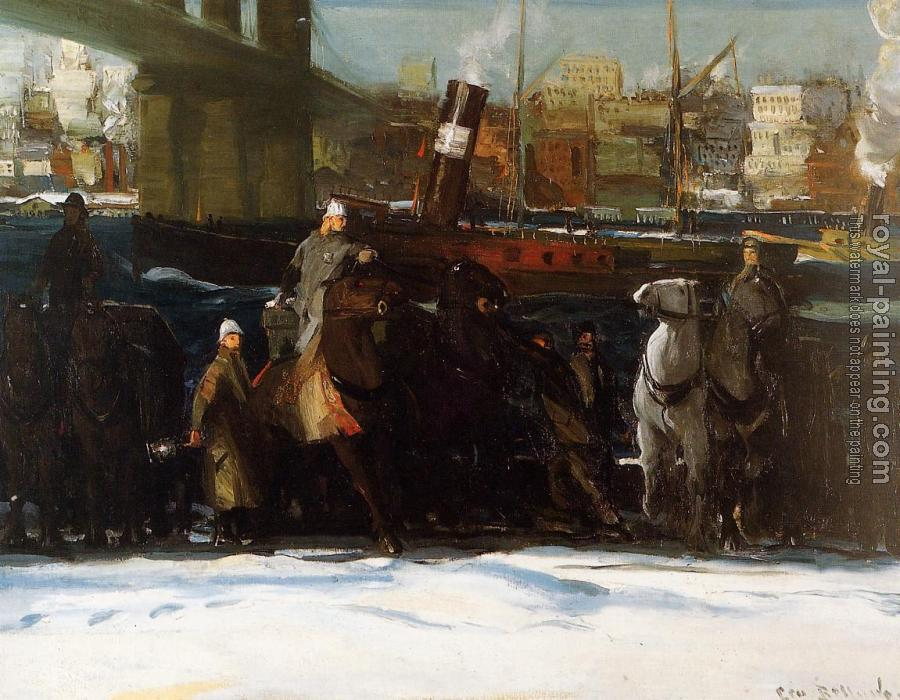 George Bellows : Snow Dumpers