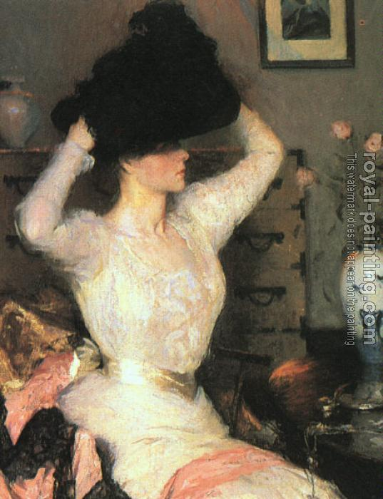 Frank Benson : Lady Trying On a Hat