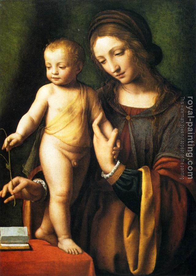 Bernardino Luini : The Virgin And Child With A Columbine