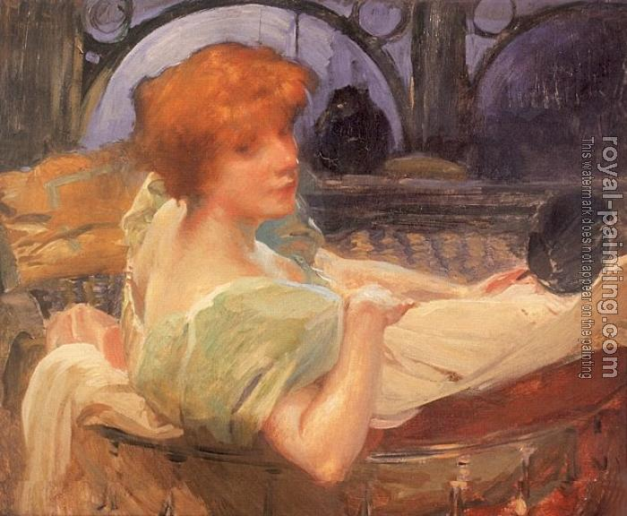 Paul Albert Besnard : Portrait de Madame Georges Rodenbach