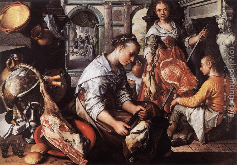 Joachim Beuckelaer : Christ in the House of Martha and Mary
