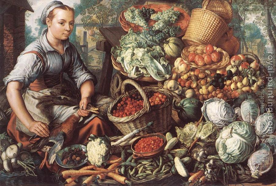 Joachim Beuckelaer : Market Woman with Fruit, Vegetables and Poultry