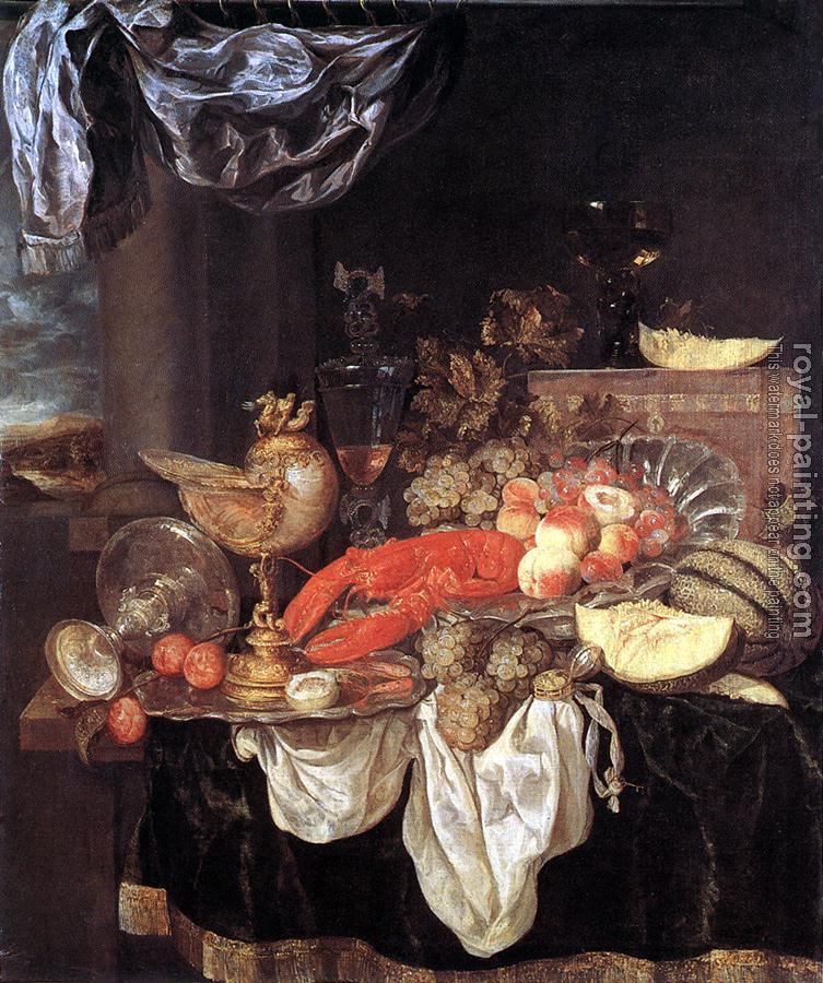 Abraham Van Beyeren : Large Still-life with Lobster