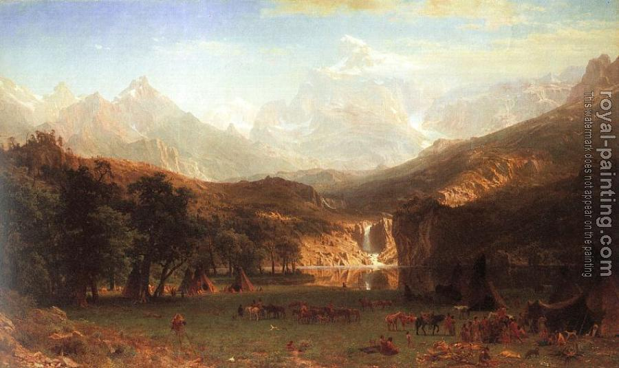 Albert Bierstadt : The Rocky Mountains, Landers Peak