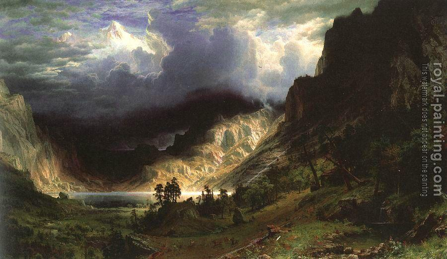 Albert Bierstadt : Storm in the Rocky Mountains, Mt. Rosalie