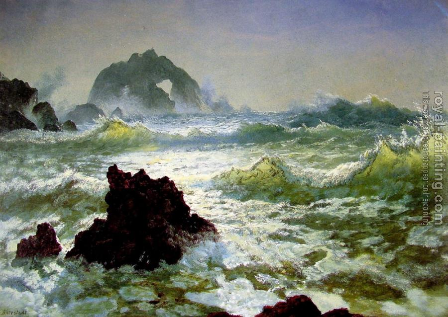 Albert Bierstadt : Seal Rock California