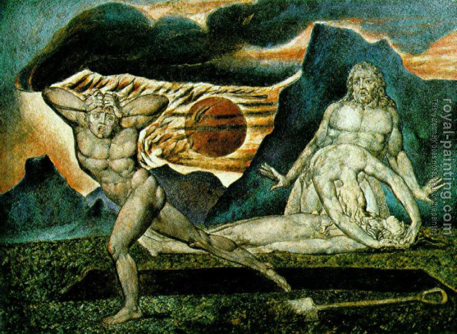 William Blake : The Body of Abel Found by Adam and Eve