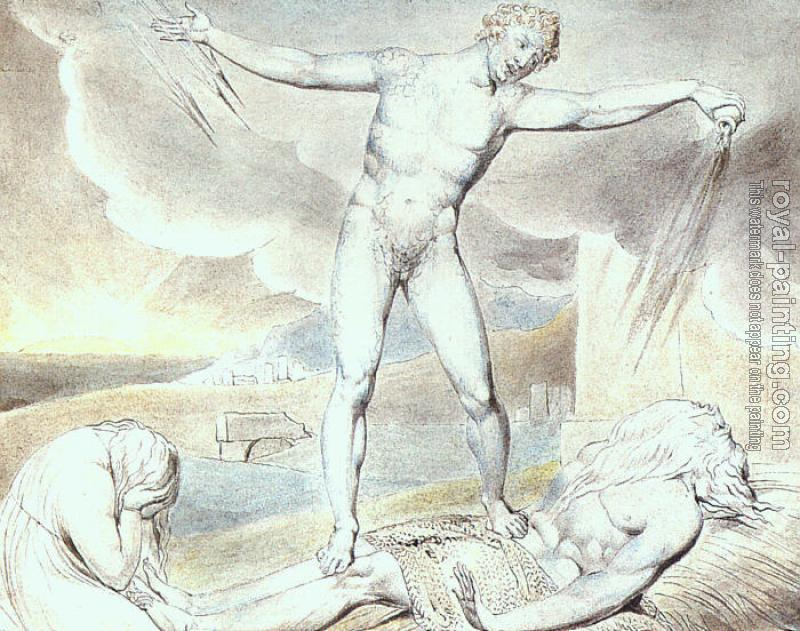 William Blake : Satan Smiting Job with Boils