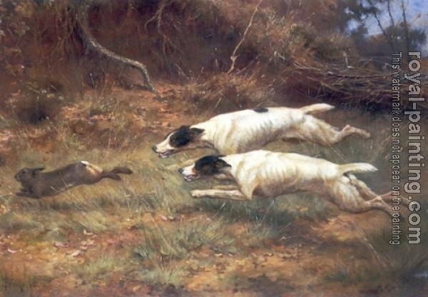 Thomas Blinks : Terriers on a Hare