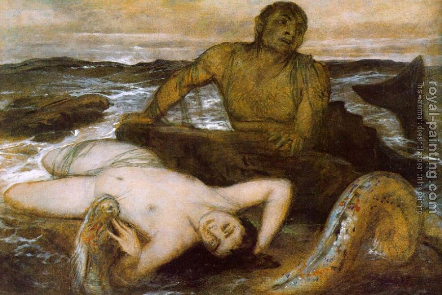 Amold Bocklin : Triton and Nereid