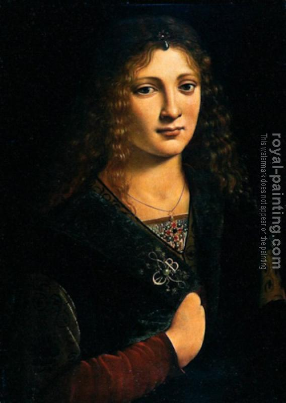 Giovanni Antonio Boltraffio : portrait alleged to be of Anne Whateley