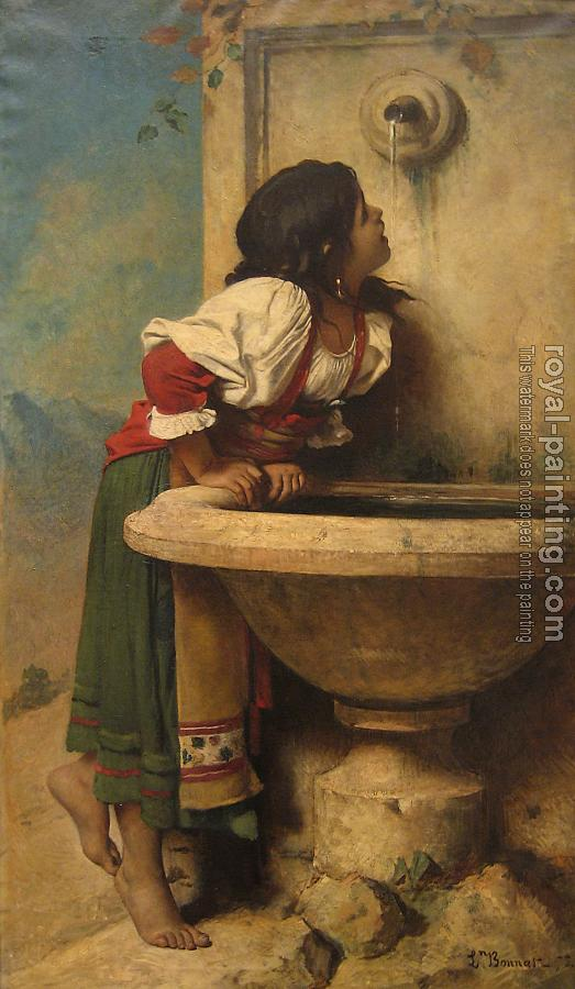 Roman Girl at a Fountain by French painter Leon Bonnat