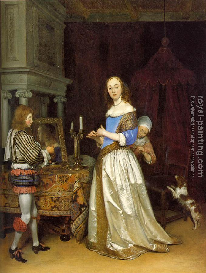 Gerard Ter Borch : Lady at her Toilette