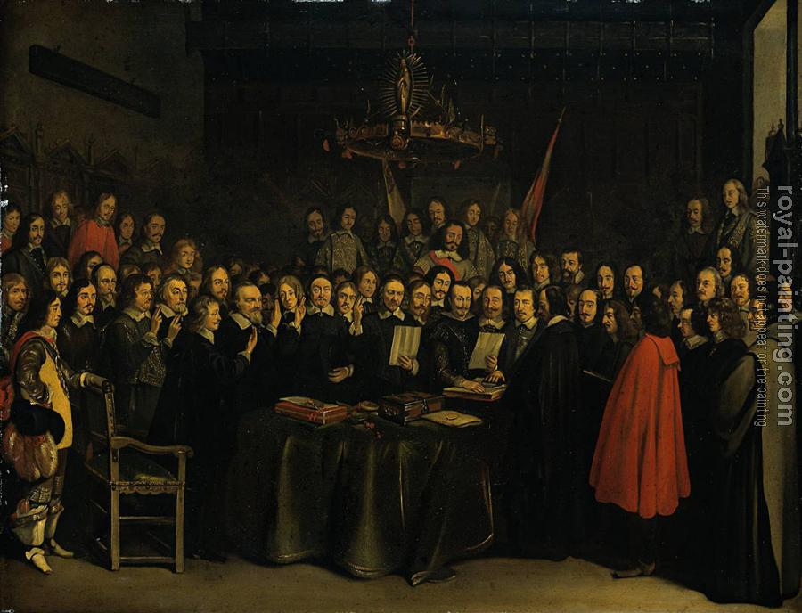 Gerard Ter Borch : The Ratification of the Treaty of Munster