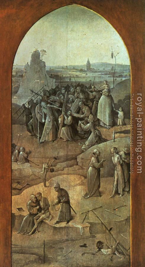 Hieronymus Bosch : Christ Carrying the Cross, outer-right wing of the triptych The Temptation of St. Anthony