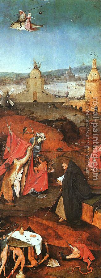 Hieronymus Bosch : St. Anthony in Meditation, inner-right wing of the triptych The Temptation of St. Anthony