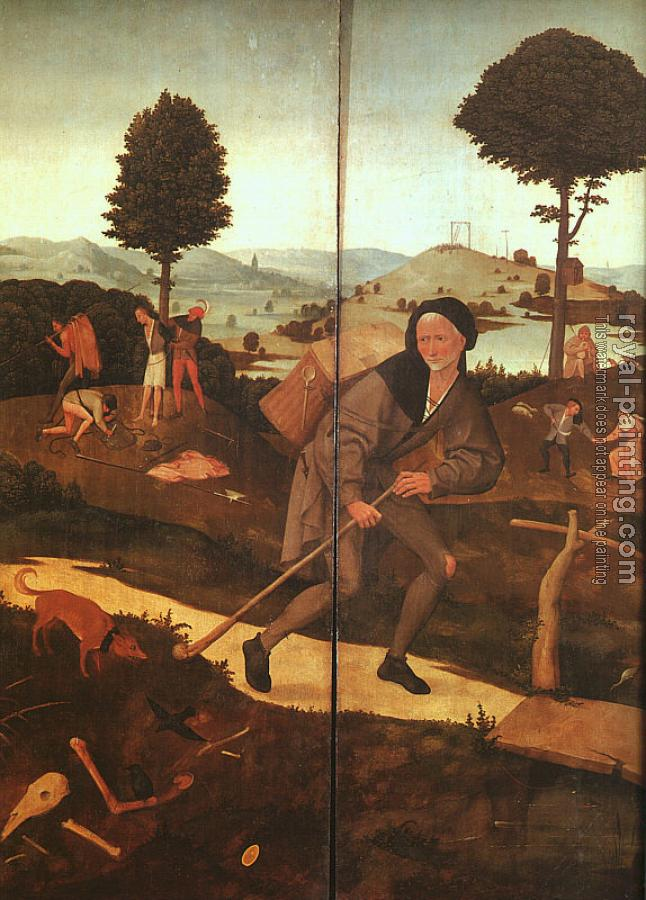 Hieronymus Bosch : The Path of Life (The Wayfarer), outer wings of The Haywain triptych