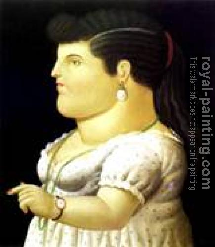 Fernando Botero : Woman In Profile