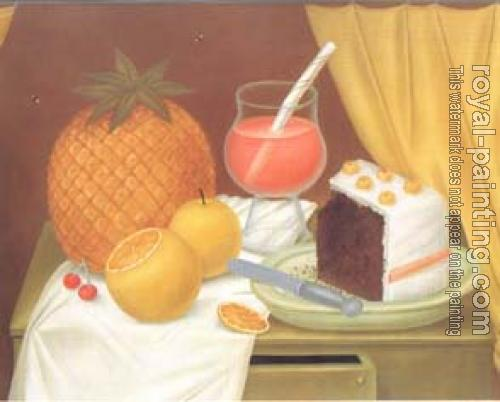 Fernando Botero : still life with cake