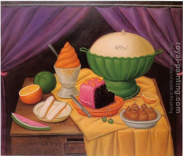 Fernando Botero : Still Life With Ice Cream Helado