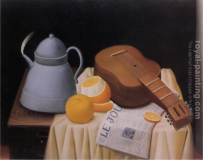 Fernando Botero : Still Life with Le Journal