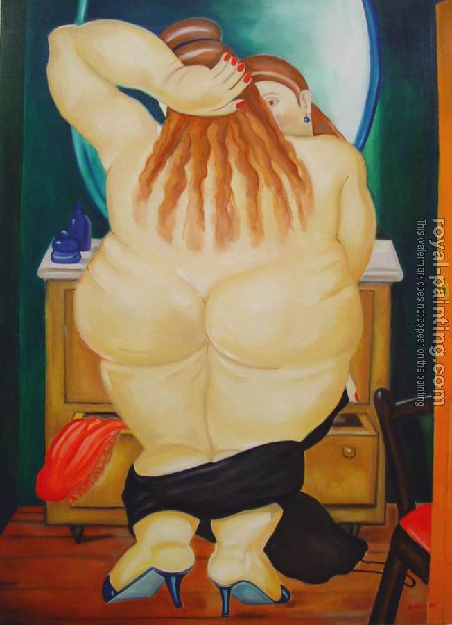 Fernando Botero : Woman Undressing