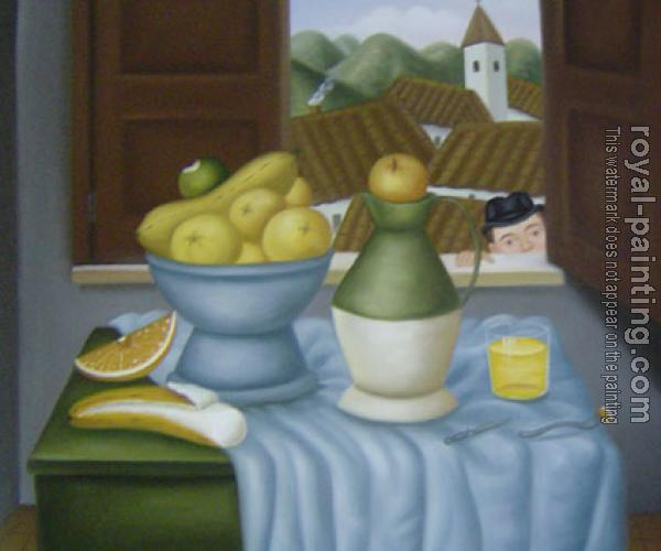 Fernando Botero : Still Life In Front Of The Window