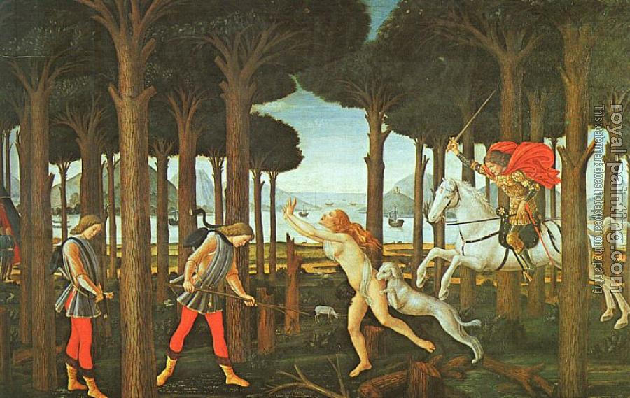 Sandro Botticelli : Panel I of The Story of Nastagio degli Onesti