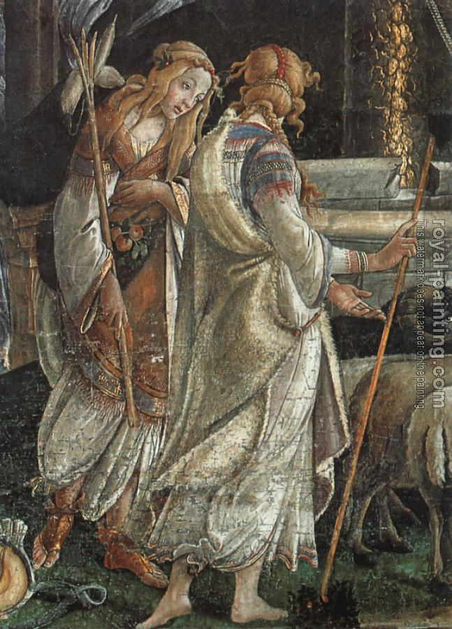 Sandro Botticelli : Scenes from the Life of Moses, detail of the Daughters of Jethro