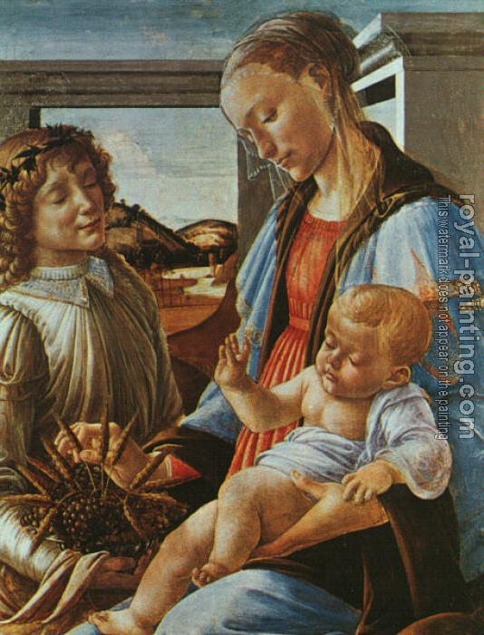 Sandro Botticelli : Madonna and Child with an Angel