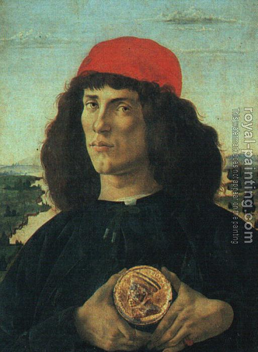 Sandro Botticelli : Portrait of a Man with a Medal