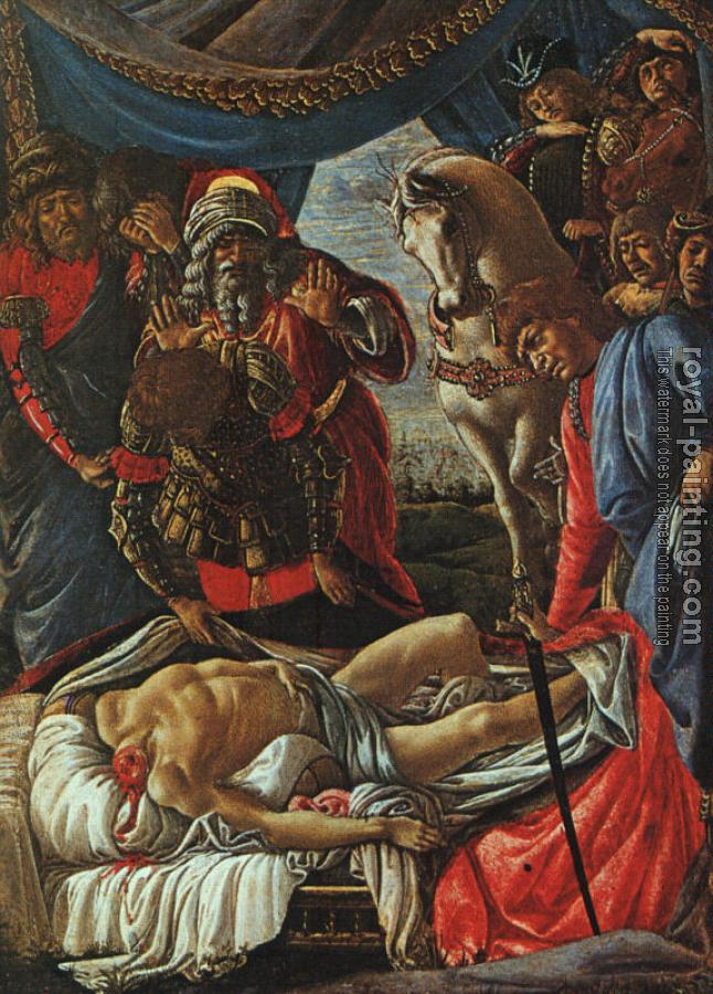 Sandro Botticelli : The Discovery of the Body of Holofernes