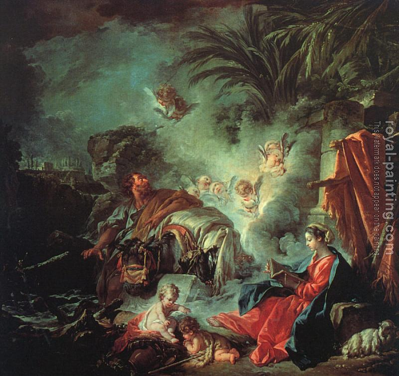 Francois Boucher : The Rest on the Flight into Egypt