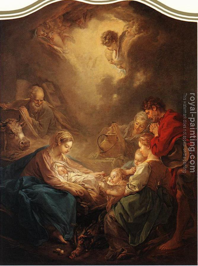 Francois Boucher : Adoration of the Shepherds