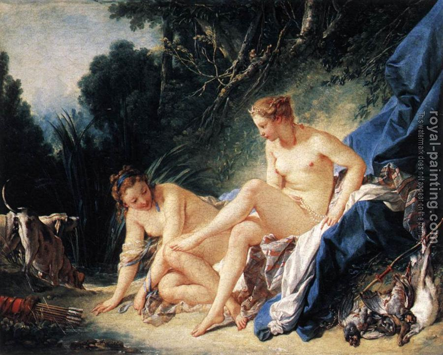 Francois Boucher : Diana Resting after her Bath