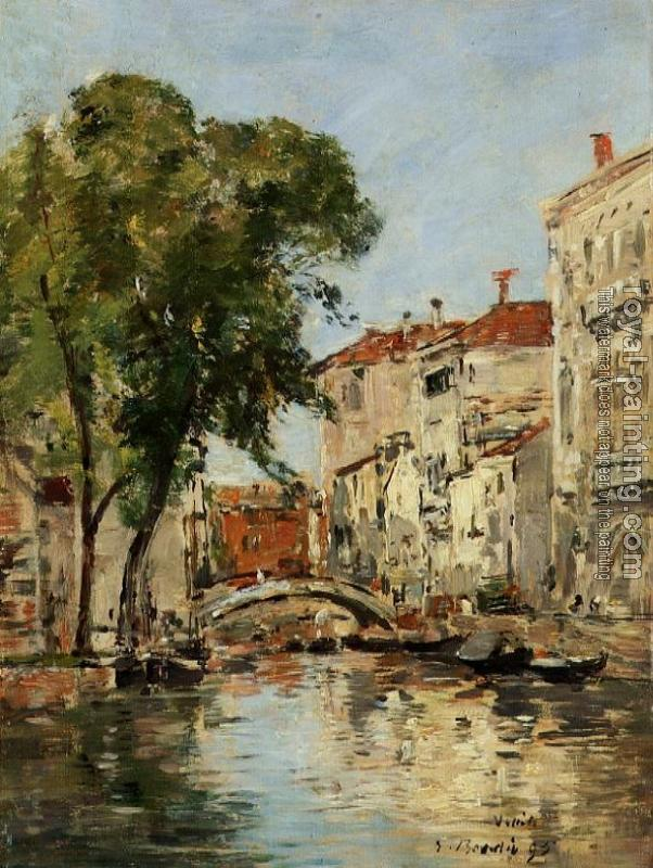 Eugene Boudin : A Small Canal in Venice