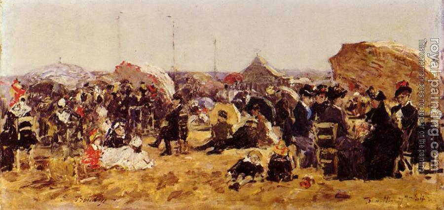 Eugene Boudin : Beach at Trouville